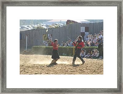 Maryland Renaissance Festival - Jousting And Sword Fighting - 121281 Framed Print