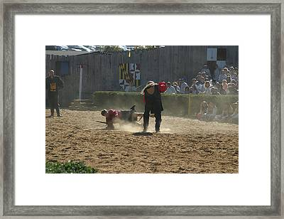 Maryland Renaissance Festival - Jousting And Sword Fighting - 121284 Framed Print