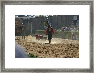 Maryland Renaissance Festival - Jousting And Sword Fighting - 121285 Framed Print