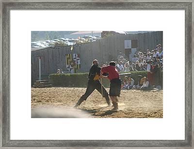 Maryland Renaissance Festival - Jousting And Sword Fighting - 121295 Framed Print
