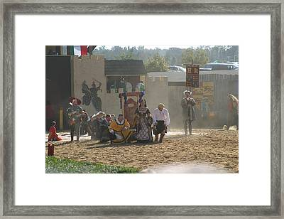Maryland Renaissance Festival - Jousting And Sword Fighting - 121298 Framed Print by DC Photographer