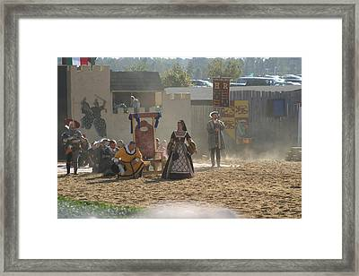 Maryland Renaissance Festival - Jousting And Sword Fighting - 121299 Framed Print by DC Photographer