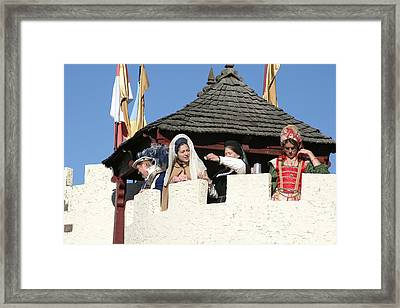 Maryland Renaissance Festival - Open Ceremony - 12124 Framed Print