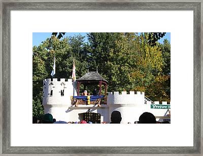 Maryland Renaissance Festival - Open Ceremony - 12126 Framed Print
