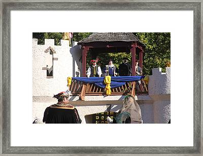 Maryland Renaissance Festival - Open Ceremony - 12127 Framed Print