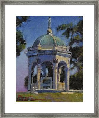 Maryland State Monument Framed Print by David Zimmerman