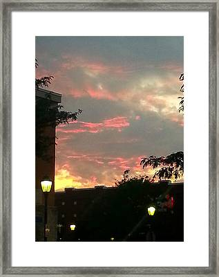 Framed Print featuring the photograph Maryland Sunset Sky by Joetta Beauford
