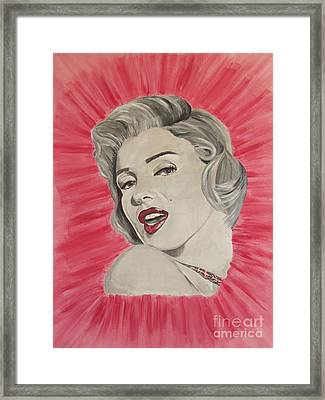 Framed Print featuring the painting Marylin Monroe Double Pink by Jeepee Aero