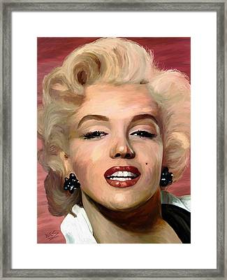 Marylin Monroe Framed Print by James Shepherd