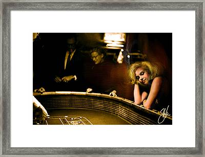 Marylin Monroe Las Vegas Framed Print