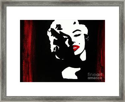 Marylin Pop Art Portrait Framed Print