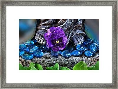 Marys Feet Framed Print