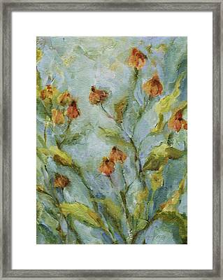 Framed Print featuring the painting Mary's Garden by Mary Wolf