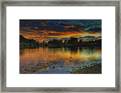Mary's Lake Sunrise Framed Print by Tom Wilbert
