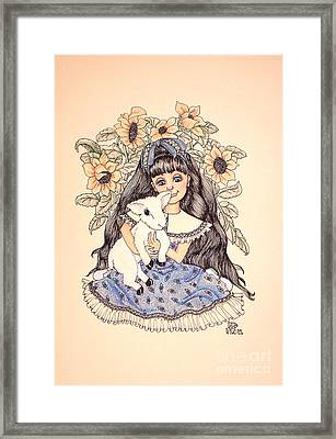 Mary's Lamb Framed Print by Lenora Brown