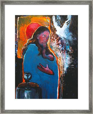 Mary's Pondering Framed Print