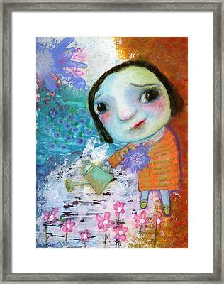 Mary's Quite Contrary Framed Print by Shirley Dawson
