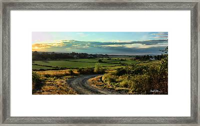 Marysville Valley Framed Print by Charlie Duncan