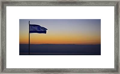 Masada At Sunrise Framed Print