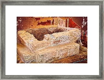 Masada Bathing Quarters Built By King Herod The Great Framed Print by Sandra Pena de Ortiz