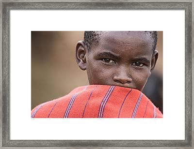 Framed Print featuring the photograph Masai #1 by Antonio Jorge Nunes