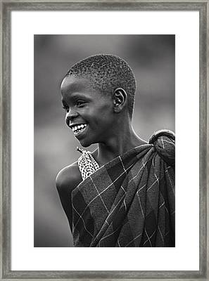 Framed Print featuring the photograph Masai #2 by Antonio Jorge Nunes