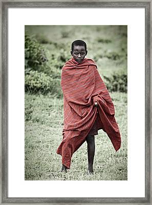 Framed Print featuring the photograph Masai #4 by Antonio Jorge Nunes