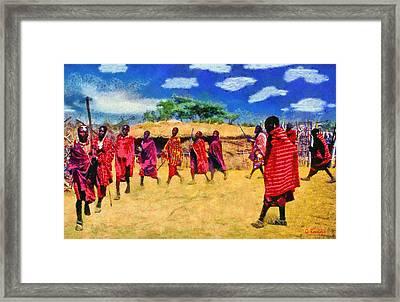 Masai Dance Framed Print by George Rossidis