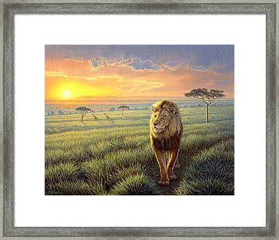 Masai Mara Sunset Framed Print by Paul Krapf