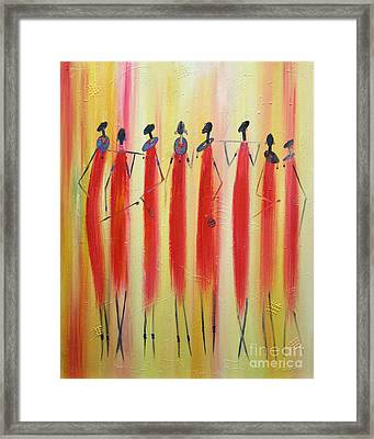 Masai Warriors Framed Print by Abu Artist