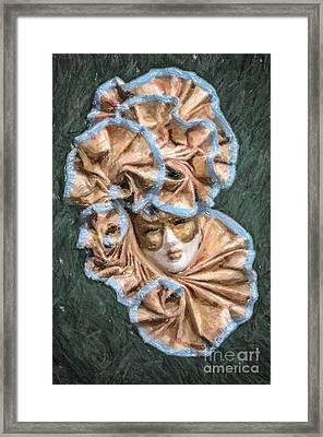 Maschera Di Carnevale Framed Print