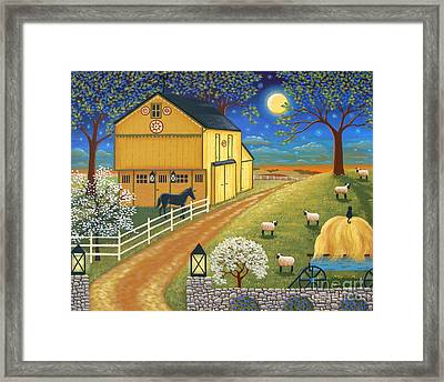 Mascot Mills Barn Framed Print by Mary Charles