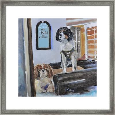 Mascots Of The Inn Framed Print by Donna Tuten