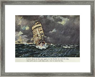 Masefield Sea Fever, 1902 Framed Print