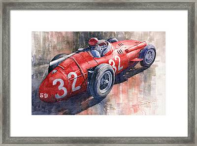 Maserati 250f J M Fangio Monaco Gp 1957 Framed Print by Yuriy  Shevchuk