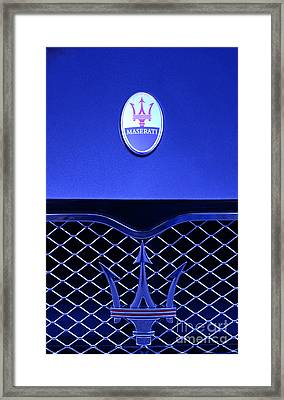 Maserati Badge Framed Print