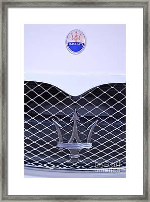 Maserati Emblems Framed Print by Pamela Walrath