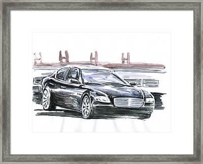 Maserati Quattroporte Framed Print by Ildus Galimzyanov