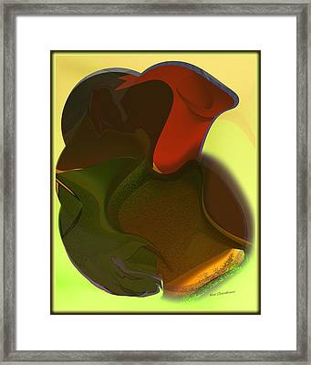Mashed Up Abstract 15 Framed Print