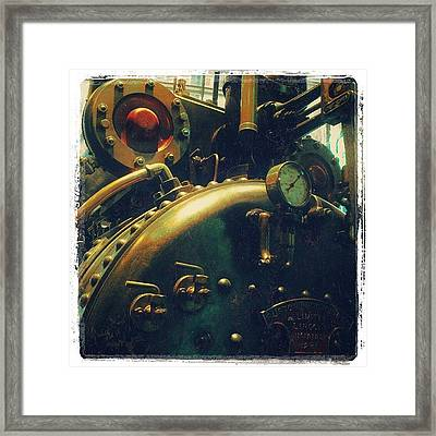 #mashines ... #steamengine #engine Framed Print