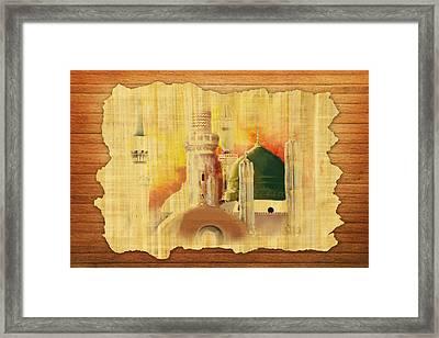 Masjid E Nabwi 02 Framed Print