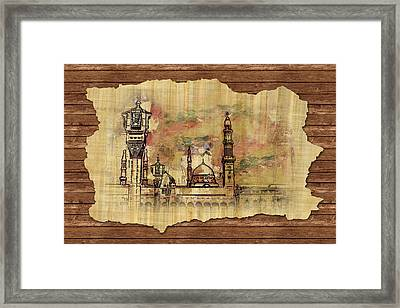 Masjid E Nabwi Sketch Framed Print by Catf