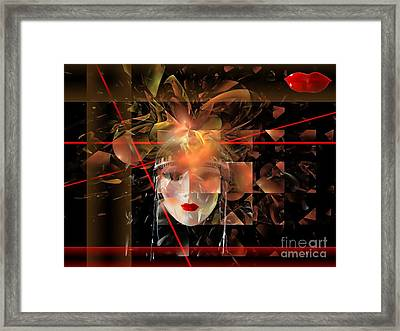 Mask 0145 Marucii Framed Print