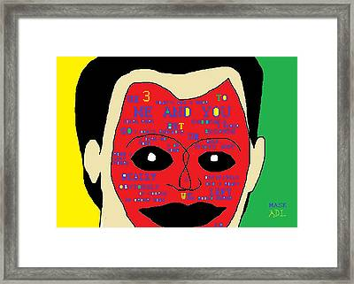 Mask 2 Framed Print by Anita Dale Livaditis