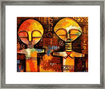 Mask 5 Framed Print