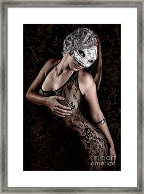 Mask And Lace Framed Print by Jt PhotoDesign