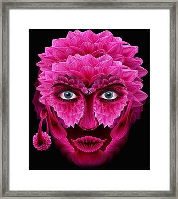 Mask Framed Print by Bogdan  Bratu