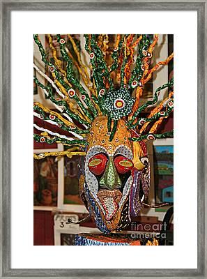 Mask Boricua Framed Print by The Art of Alice Terrill