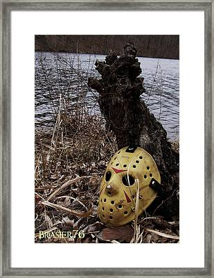 Mask By The Lake Framed Print by Ryan Brasier