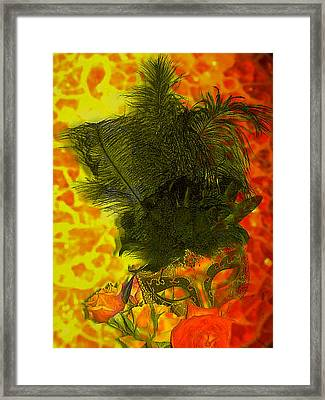 Mask Framed Print by Kelly McManus